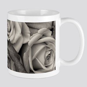 Black and White Rose Bouquet Mugs