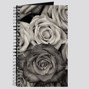 Black and White Rose Bouquet Journal