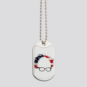 Bernie Flag Hair Dog Tags