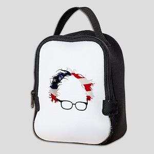Bernie Flag Hair Neoprene Lunch Bag