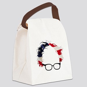 Bernie Flag Hair Canvas Lunch Bag