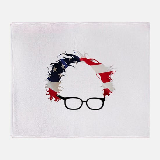 Bernie Flag Hair Throw Blanket