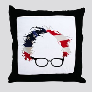 Bernie Flag Hair Throw Pillow
