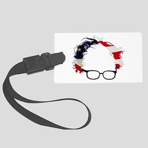 Bernie Flag Hair Large Luggage Tag