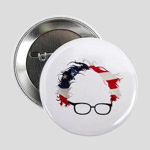"""Bernie Flag Hair 2.25"""" Button"""