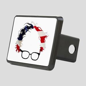 Bernie Flag Hair Rectangular Hitch Cover
