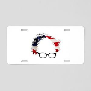 Bernie Flag Hair Aluminum License Plate
