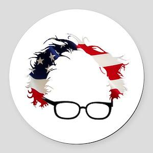 Bernie Flag Hair Round Car Magnet