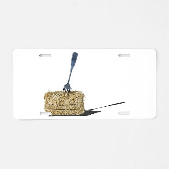 Cool Fork Aluminum License Plate
