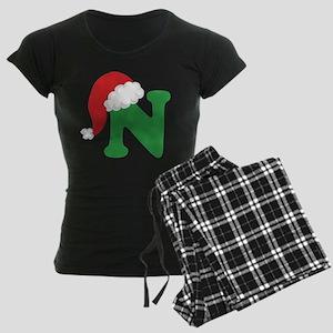 Christmas Letter N Alphabet Pajamas