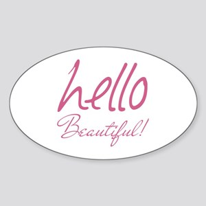 Gifts for Her Hello Beautiful Pink Sticker