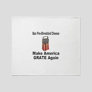 Make America Grate Again Throw Blanket