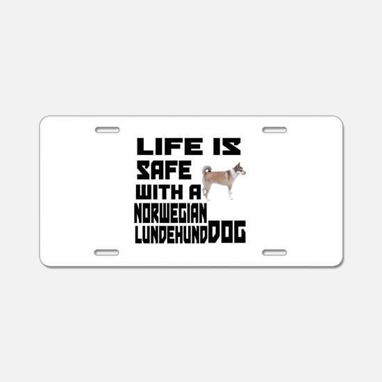 Life Is Safe With A Norwegi Aluminum License Plate