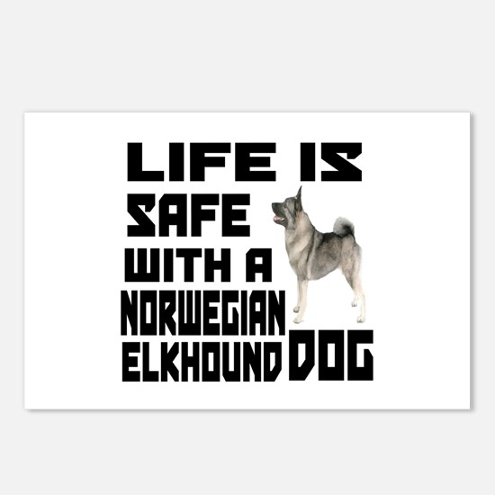 Life Is Safe With Norwegi Postcards (Package of 8)