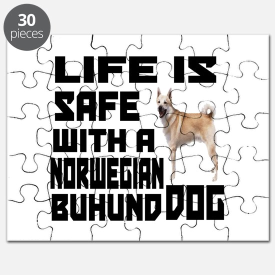 Life Is Safe With A Norwegian Buhund Puzzle
