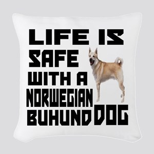Life Is Safe With A Norwegian Woven Throw Pillow