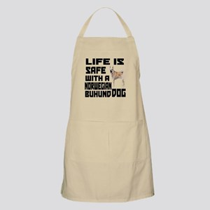 Life Is Safe With A Norwegian Buhund Apron