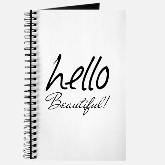Gifts for Her Hello Beautiful Black Journal