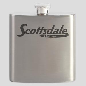 Scottsdale Arizona Vintage Logo Flask
