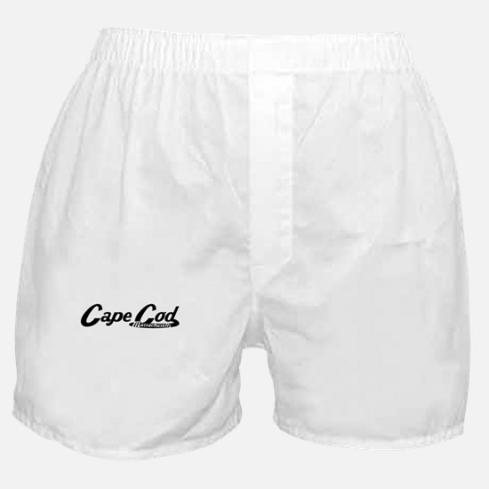 Cape Cod Massachusetts Vintage Logo Boxer Shorts