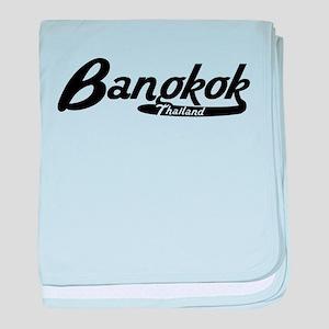 Bangkok Thailand Vintage Logo baby blanket