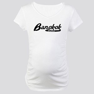 Bangkok Thailand Vintage Logo Maternity T-Shirt