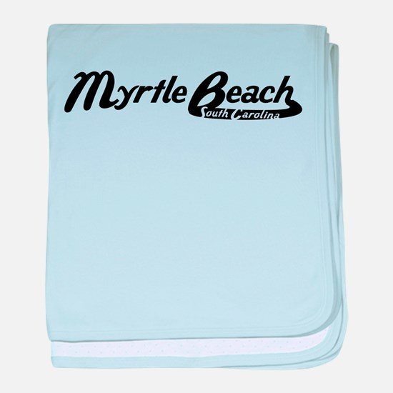 Myrtle Beach South Carolina Vintage Logo baby blan