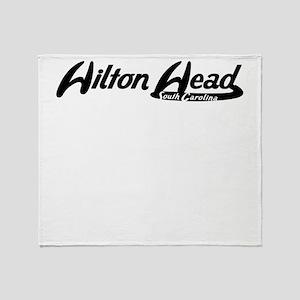 Hilton Head South Carolina Vintage Logo Throw Blan