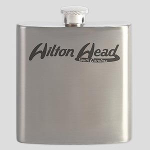 Hilton Head South Carolina Vintage Logo Flask