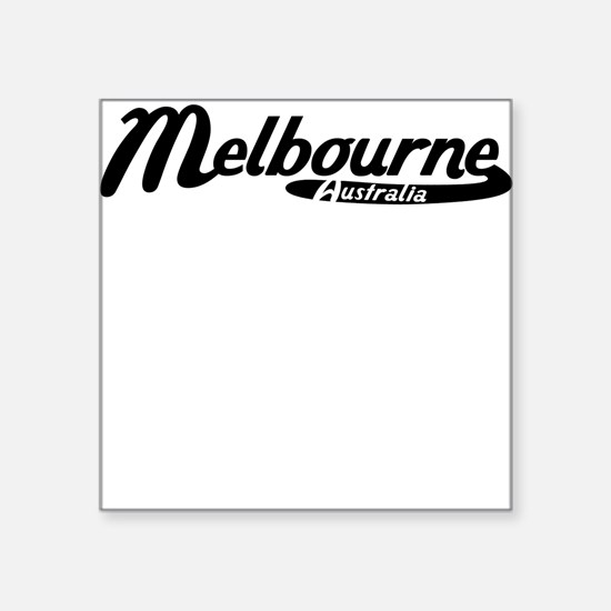 Melbourne Australia Vintage Logo Sticker