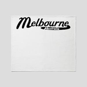 Melbourne Australia Vintage Logo Throw Blanket