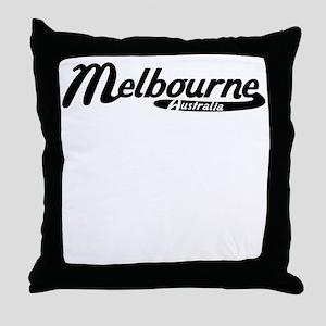 Melbourne Australia Vintage Logo Throw Pillow