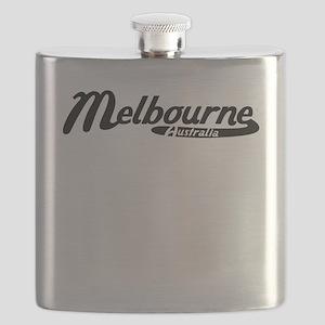 Melbourne Australia Vintage Logo Flask