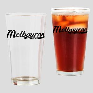 Melbourne Australia Vintage Logo Drinking Glass