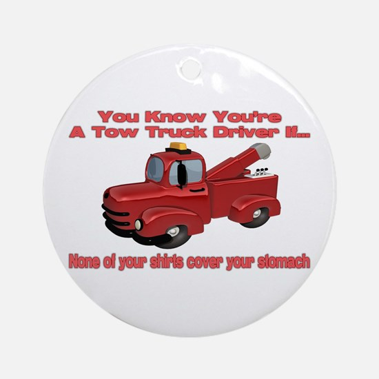 Tow Truck Tshirts and Gifts Ornament (Round)