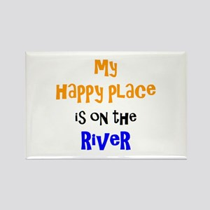 happy place on river Rectangle Magnet