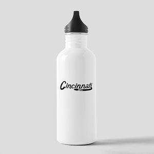 Cincinnati Ohio Vintage Logo Water Bottle