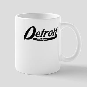 Detroit Michigan Vintage Logo Mugs