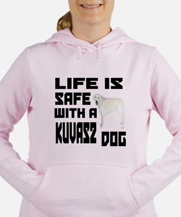 Life Is Safe With A Kuva Women's Hooded Sweatshirt