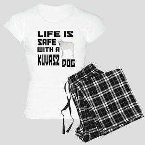 Life Is Safe With A Kuvasz Women's Light Pajamas