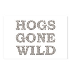 Funny Hogs Gone Wild Postcards (Package of 8)