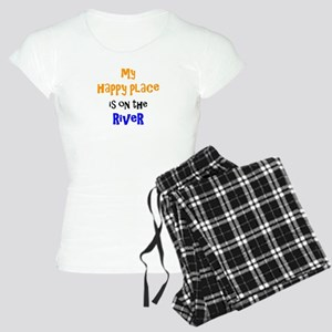 happy place on river Women's Light Pajamas