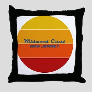 New Jersey - Wildwood Crest Throw Pillow