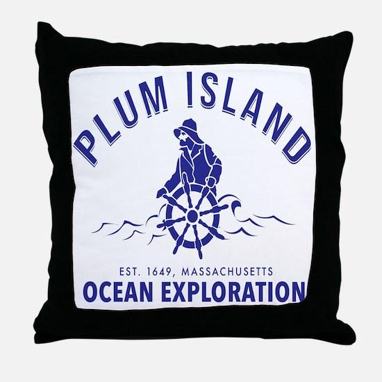 Funny Plum Throw Pillow