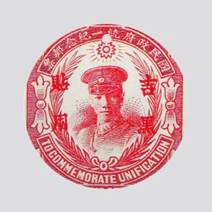 Republic of China Red Round Ornament
