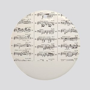 Musical Styles Round Ornament