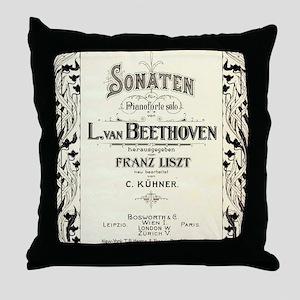 Beethoven Sonata Throw Pillow