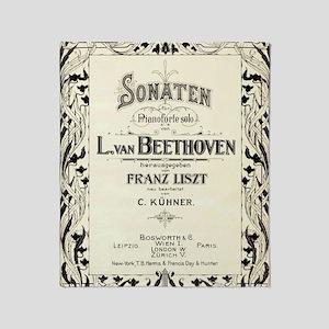 Beethoven Sonata Throw Blanket