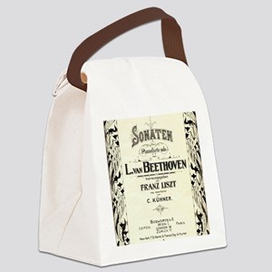 Beethoven Sonata Canvas Lunch Bag