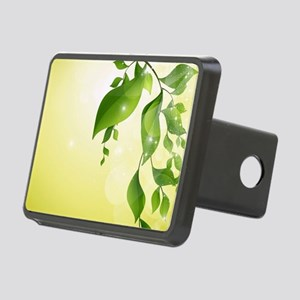 Decorative Leaves Floral Rectangular Hitch Cover